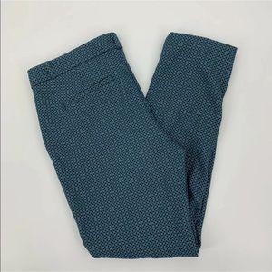 Banana Republic Sloan Blue Print Ankle Pants Sz 8